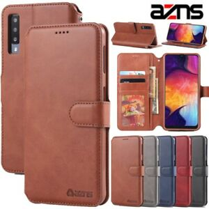 azns For Samsung A6 A7 A8 Plus A9 2018 Magnetic Wallet Flip Leather Case Cover