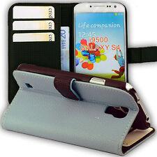 Tasche für Samsung Galaxy S4 Kunstleder Schutz Hülle Case i9500 hell blau