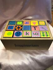 Imaginarium DISCOVERY- Wood Alphabet Building Blocks 30 pieces with wood case
