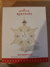 2015 Hallmark Porcelain Snowflake Christmas Ornament