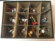 Disney Grolier 1987 Christmas 12 Piece Vintage Ornament Set Mint Condition