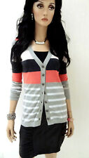 MARCCAIN Damen Strickjacke N3 38 M Baumwolle Polyamid Jacke mehrfarbig