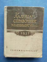 1957 Russian Soviet USSR Vintage Book Calendar-directory of the railwayman Mini