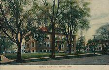 1907 Postcard - Danbury High School - Danbury CT