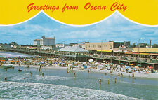 Ocean City MD * Greetings ca 1960s * View From Music Pier