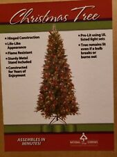 Christmas Tree Artificial 7.5 foot w Pine Cones and Berries 300 clear lights