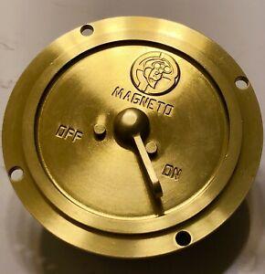 Vintage Antique American Bosch Ignition Magneto Switch Brass Era Racing Flathead