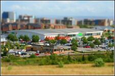PHOTO  CARDIFF  RETAIL PARK MODEL A TILT-SHIFT PHOTOGRAPH TRYING TO PRODUCE WHAT