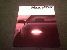 1986 MAZDA RX7 - BELGIAN / BELGIUM 24 PAGE BROCHURE