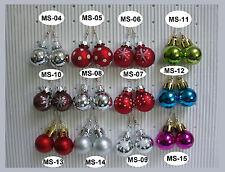Ohrringe Weihnachten Mini Weihnachtskugel Heiligabend Christbaum Auswahl MS-21