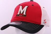 NEW Maryland Terrapins Terp Red Embroidered Mesh Zephyr Snapback Cap Hat trucker