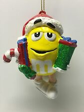 M&M Yellow Christmas Tree Ornament Kurt Adler Holiday Mars Candy Chocolate Gifts