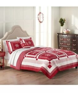 St Nicholas Square Christmas Holiday Nicholas Full/Queen Quilt 90x95in