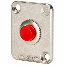 Switchcraft EHPBSMR Momentary Pushbutton Switch SPDT Red wit
