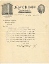 F. H. & C. B. Gerhart Real Estate Co., 1918 St. Louis letterhead, Wainwright Bld