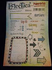 Paper Artsy Rubber Stamps EclecTica3 #EEG05 Emma Godfrey Planner Calendar