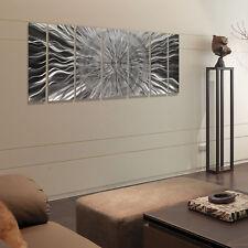Jon Allen Metal Wall Art Large Modern Abstract Hanging Sculpture Decor Silver