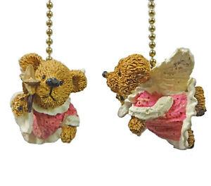 Angel Teddy Bear Ceiling Fan Pulls, Set of 2