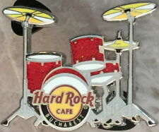 Hard Rock Cafe BUCHAREST 2012 Red DRUM KIT Set PIN - LE 300 HRC Catalog #70656