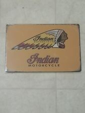INDIAN MOTORCYCLE Vintage Style Tin Metal Sign Garage Shop Wall Decor U.S Seller