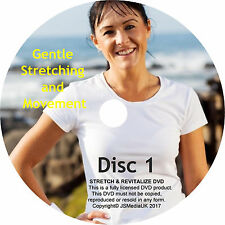 Over 50s Gentle Stretching Exercise Fitness & Wellbeing 2 DVDs + FREE YOGA DVD