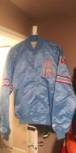 Vintage Houston Oilers Throwback Satin Starter Jacket XL! Mint