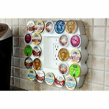 Cafe Wall Coffee Pod Holders Caddy (white) Holds Up To 22 Keurig K-Cup Or Tea No