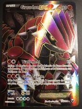 Carte Pokemon GROUDON 106/108 EX Full Art Noir et Blanc Française Proche NEUF