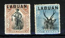 LABUAN 1897-01 Overprinted NORTH BORNEO 1c. & 2c. SG 89bb & SG 90c MINT