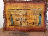 Rare Antique Ancient Egyptian Papyrus Funeral Boat Flight universe tour 1730 BC