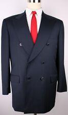 Brioni Aurelio Navy Blue Six Metal Button Side Vented Wool Mens Sport Coat 42 R