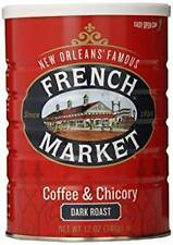 French Market Coffee & Chicory Dark Roast, City Roast, 12oz (3 Pack)