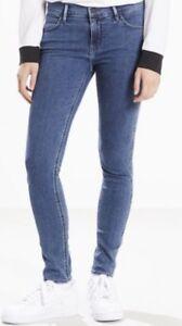 Levi's Line 8 Mid Rise Skinny Fit Ladies Blue Jeans