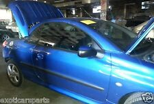 PEUGEOT 206 CC (2002) 2DR BLUE CABRIOLET, 4SP AUTO, 1.6L - CURRENTLY WRECKING