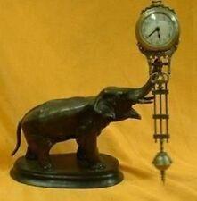 Beautiful pendulum clock bronze elephant statue