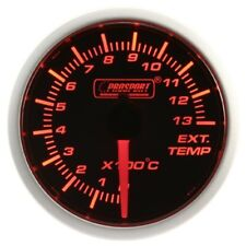 PROSPORT 52mm Amber Red & White Led Smoke Face EGT Gauge Celsius