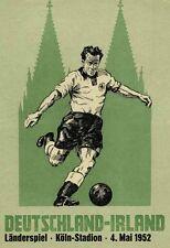 Fußball Football Programm 1952 Deutschland Germany - Irland Ireland DFB Reprint