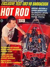 HOT ROD DEC 1966,BARACUDA,SHELBY,HOW TO DEGREE CAMSHAFT,DECEMBER HOTROD MAGAZINE