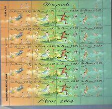 FOGLIETTO MNH** San Marino 2004 minifoglio Olimpiadi di Atene 20 FRANCOBOLLI
