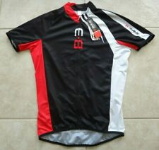 NEW BIEMME Zippered Cycling/Biking Jersey Men's XL Black/White/Red Made in Italy