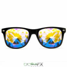 Kaleidoscope Crystal Glasses USA costume party club novelty 3D trippy rave EDM