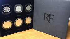 France 2013 silver 6 coin set 3x 5 euro & 3x 25 euro Valeurs de la Republique