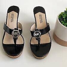 EUC Michael Kors Wedge Sandals, Black