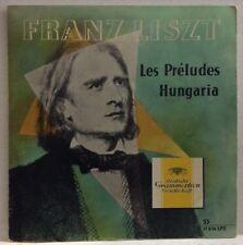 "Franz Liszt Les Preludes Hungaria Import 10"" Record 18034LPE"