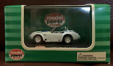"""MODEL POWER #19225  Shelby Cobra Convertible """"White""""  H.O.Scale 1/87"""