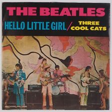 """BEATLES: Hello Little Girl / Three Cool Cats DECCAGONE Blue Wax 7"""" 45 PS NM"""