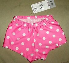 NWT Pumpers Pink with Dots Lycra Shorts Costume Child Medium