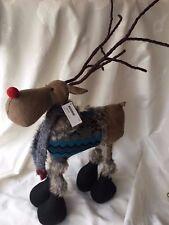 Renna folk con sciarpa e maglia Altezza 55 cm.