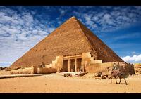 THE PYRAMIDS photo poster EGYPT sand sky mystery HISTORIC BEAUTY 24X36 rare