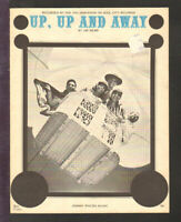 Up Up And Away 1967 THE 5th DIMENSION Vintage Sheet Music Q03